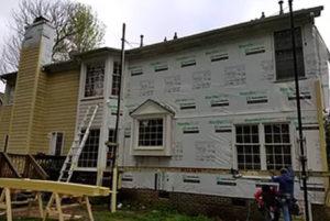 House under siding construction