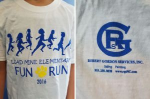 Robert Gordon Services Fun Run Shirt